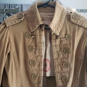 21 mustard yellow spring jacket military style